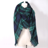 Designer Plaid Large Acrylic Scarves by ZNAC