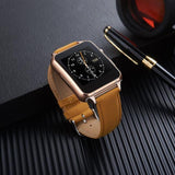 FLOVEME E7 Bluetooth Smart Watch with Leather Band and SIM Card Support | calizota