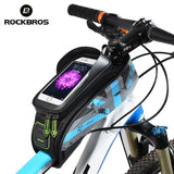 ROCKBROS MTB  Rainproof Touch Screen Cycling Top Front Tube Frame Phone Case Bag Bike Accessories | calizota