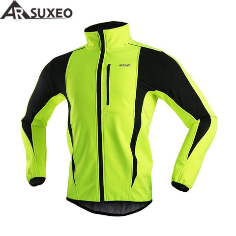 ARSUXEO Thermal Cycling Warm Up Windproof Waterproof Soft Shell Jacket | calizota