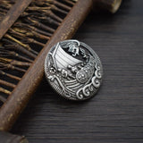 Sanlan Celtic Viking Ship Brooch Pin