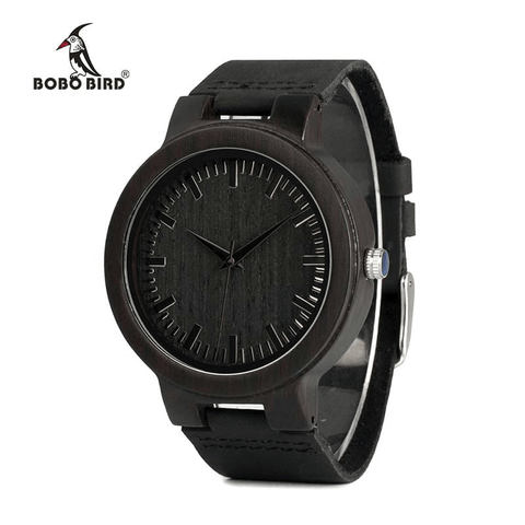 BOBO BIRD WC27 Men's Design Brand Luxury Wooden Bamboo Watches With Real Leather Quartz Watch in Gift Box accept OEM Customize