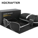 HDCRAFTER E000 Mens Aviator Polarized Sun Glasses UV400 with Gift Box