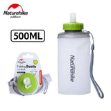 NatureHike 500ML Mini Sports Bottle Water Bottles Outdoor Cup Portable Silicone Folding Drinkware With Straw NH61A065-B | calizota