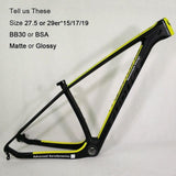 Thrust Carbon Mountain Road Bike Frame 29er Thru Axle 142*12/135*9 | calizota