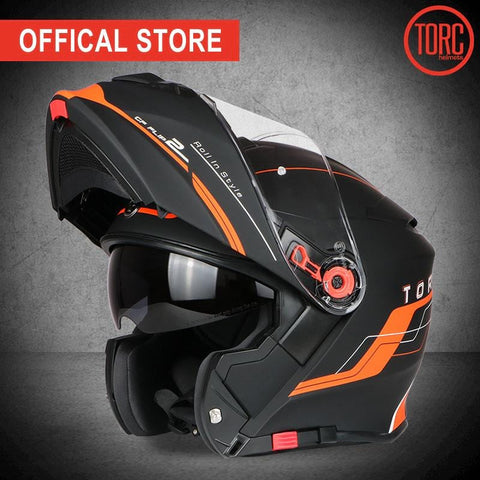 TORC Flip-Up Full Face ECE Approved Motorcycle Racing Helmet | calizota
