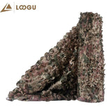 LOOGU E 1.5M*4M Bulk Roll Woodland Camo Netting with mesh Jungle Shelter outdoor Camping Military Hunting Camouflage Netting | calizota