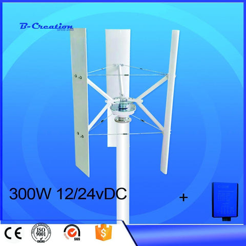 Wind Turbine Generator 300W 12v 24v Vertical Axis Wind Turbines VAWTs for Home Street Wind System | calizota