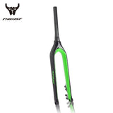 THRUST Carbon Fiber 29er Rigid Color Splash Bicycle Fork with Disc 160MM Tapered Thru Axle 9/15mm/142x12