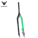 Thrust 9/15mm 29er Mountain Bike Carbon Rigid Tapered Thru-Axle Bicycle Fork