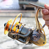 Freshwater and Saltwater 3000 - 7000 Series All Metal Spool  12+1BB Spinning Fishing Reel | calizota