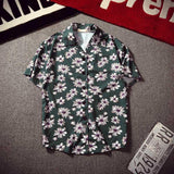 Dark Icon Dark Petals Summer Hawaii Style Men's Street Shirt