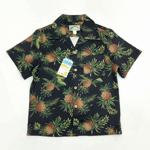 Bob Dong Men's Pineapple Floral Print Men Casual Hawaiian Shirts