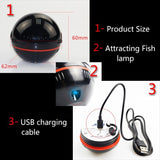 Erchang Portable Wireless Sonar 48M/160ft Depth Fish Finder With Attracting Fish lamp and App