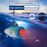 Erchang 12-Pc Fish Finder Waterproof Underwater Infrared ICE Fishing Camera 7 Inch 1000TVL