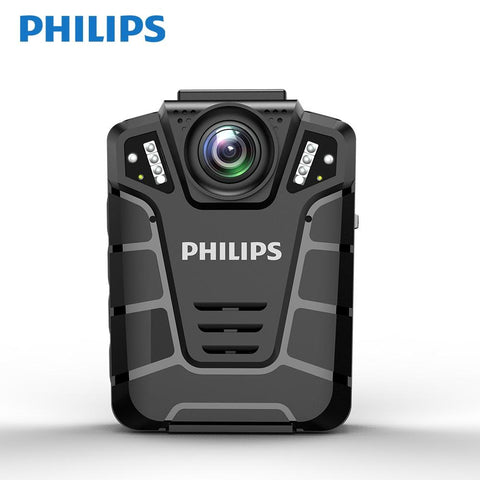 Philips VTR8110 Infrared Police Body Cam A7LA30 Video Recorder 170 Degree Wide Angle 32GB TF Card  IP68 Protection Level