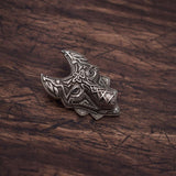 Celtic Wolf Brooch Lapel Pin