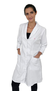 Gessica White Handmade Embroidered Lab Coat