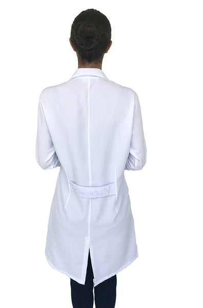 Gessica Silver Handmade Embroidered Lab Coat