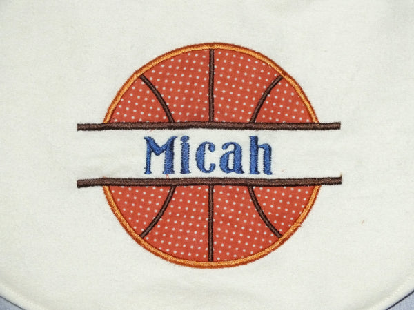 Baby boy basketball bib - personalized basketball bib