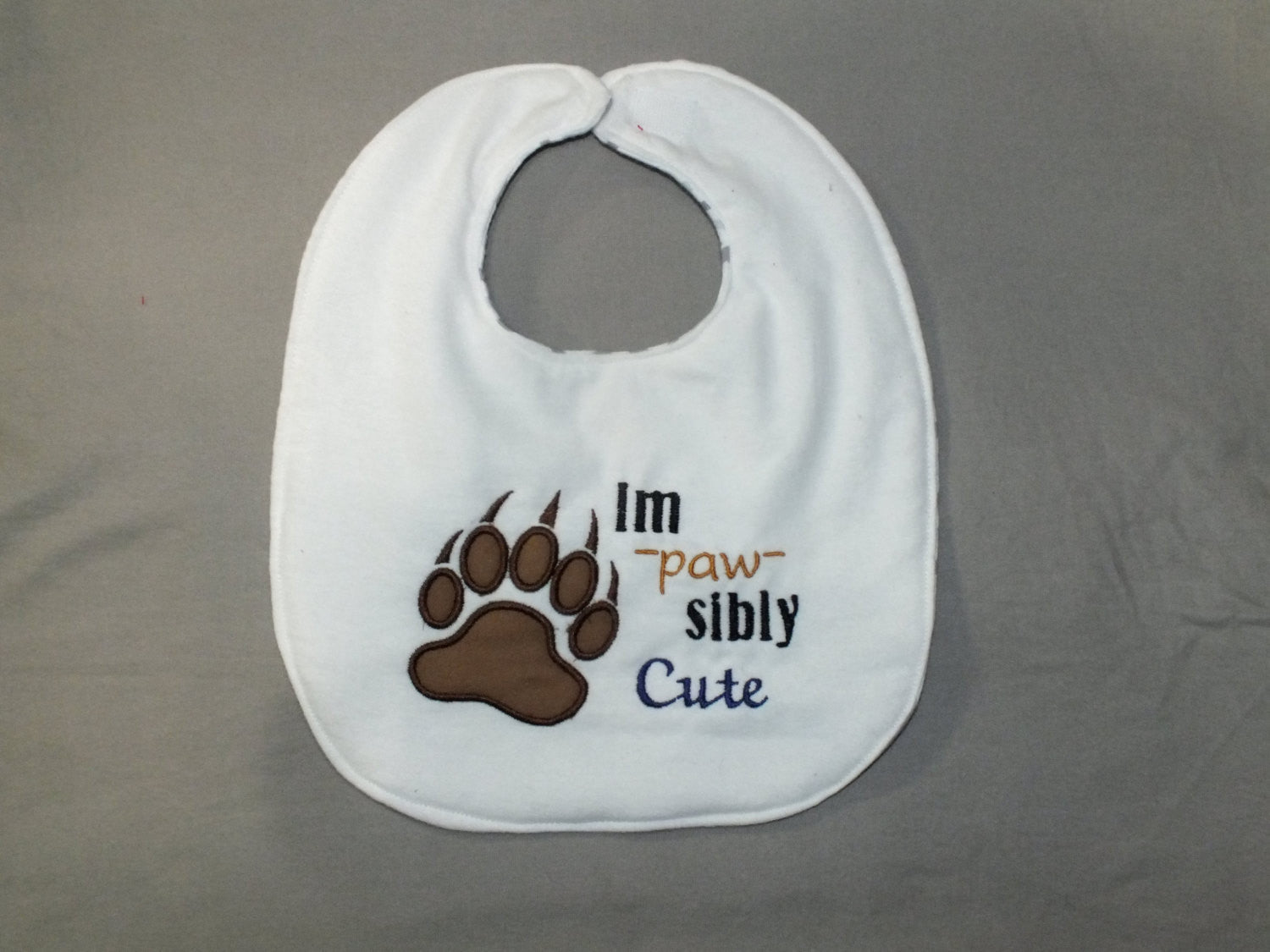 Baby boy bear bib - woodland animal bib - baby boy bib -  pun bib
