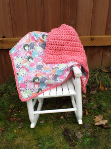 Baby girl hedgehog blanket - crochet blanket