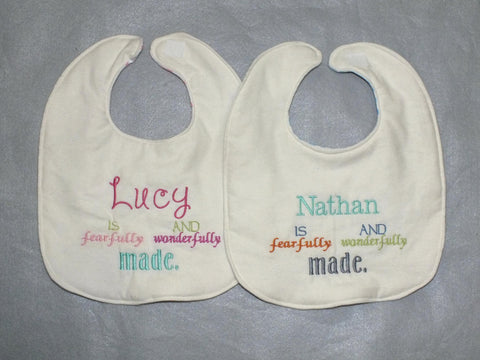 Personalized bible verse bib - bible baby bib - personalized bib