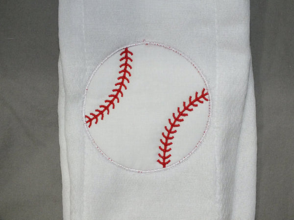 Baseball baby boy burp cloth - personalized burp cloth