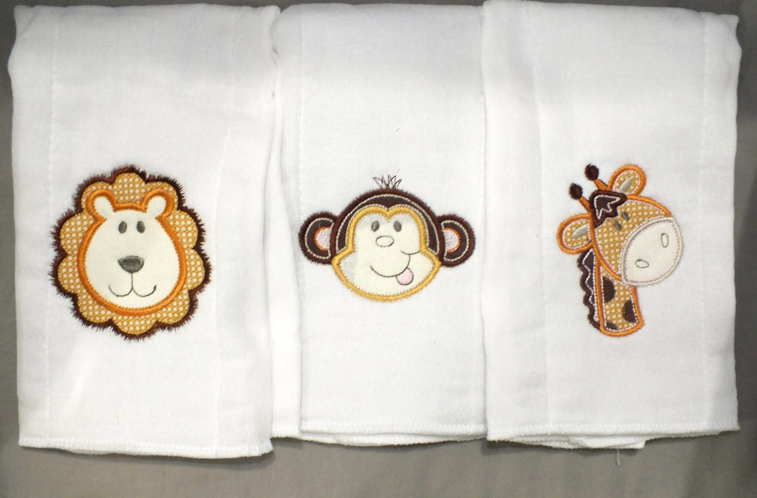 Jungle animal burp cloth - gender neutral burp cloth - personalized burp cloth