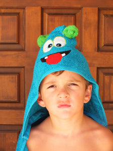 Monster hooded towel - personalized towel hooded bath