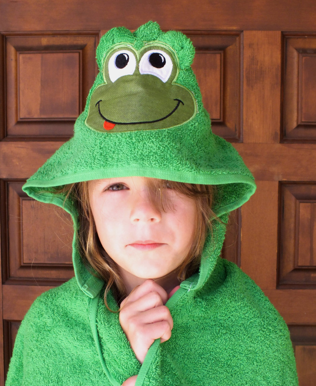 Frog hooded towel - personalized hooded towel