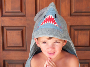 Shark hooded towel -  personalized hooded towel