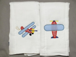 Pilot burp cloth -  baby boy burp cloths - personalized burp cloth