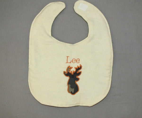 Personalized hunting bib - baby boy bib