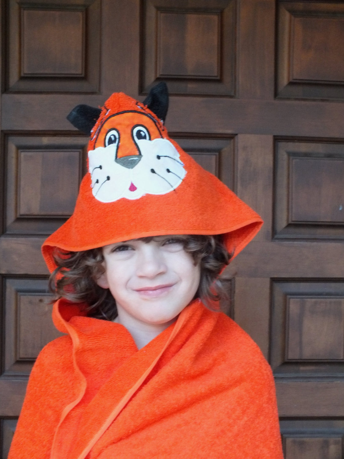 Tiger hooded towel - personalized hooded towel