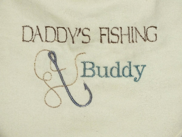 Dad's fishing bib - baby boy bib
