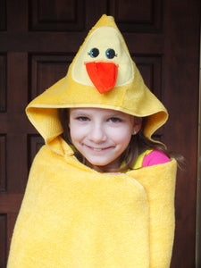 Duck hooded towel -personalized hooded towel
