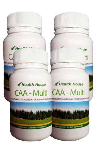 CAA 4 Pack - NZ's Multi-Mineral and Vitamin for NZ Conditions