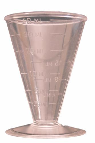 Empty 40ml Measuring Cup
