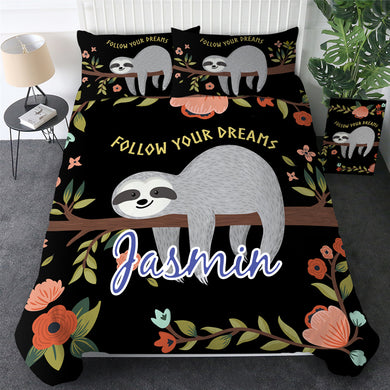 Customised Sloth Quilt Cover Set