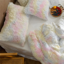 Load image into Gallery viewer, Newcastle Stock - Fluffy Velvet Fleece Quilt Cover and pillowcases - Pale Rainbow