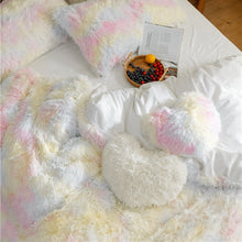 Load image into Gallery viewer, EXPRESS POST Newcastle Stock - Fluffy Velvet Fleece Quilt Cover and pillowcases - Pale Rainbow