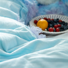 Load image into Gallery viewer, Fluffy Velvet Fleece Quilt Cover and pillowcases - Blue Purple Rainbow