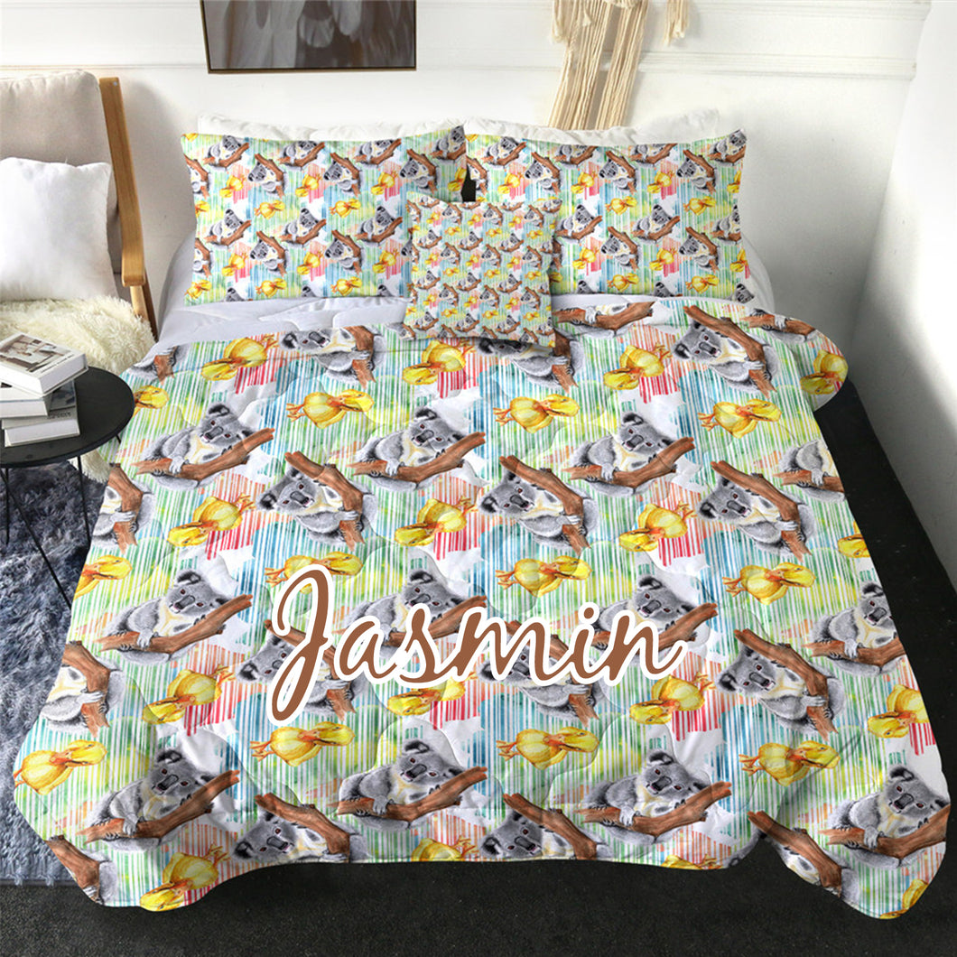 Customised Koala Quilt Cover Set