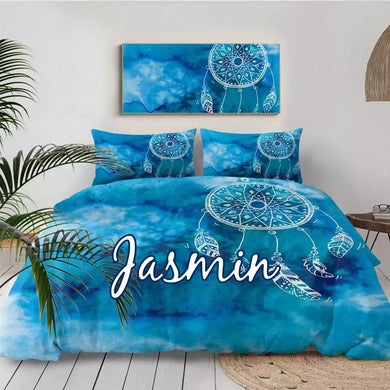 Customised Watercolor Dreamcatcher Quilt Cover Set