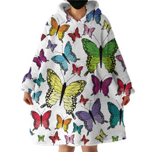 Load image into Gallery viewer, Blanket Hoodie - Butterfly Garden