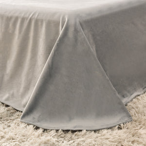 EXPRESS POST Newcastle Stock - Fluffy Velvet Fleece Quilt Cover and pillowcases - Grey