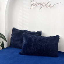 Load image into Gallery viewer, Fluffy Quilt Comforter and pillowcases - Navy