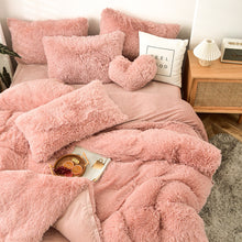 Load image into Gallery viewer, EXPRESS POST  Newcastle Stock - Fluffy Velvet Fleece Quilt Cover and pillowcases - Rose Gold