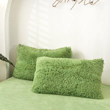 Load image into Gallery viewer, EXPRESS POST Newcastle Stock - Fluffy Velvet Fleece Quilt Cover and pillowcases - Avocado